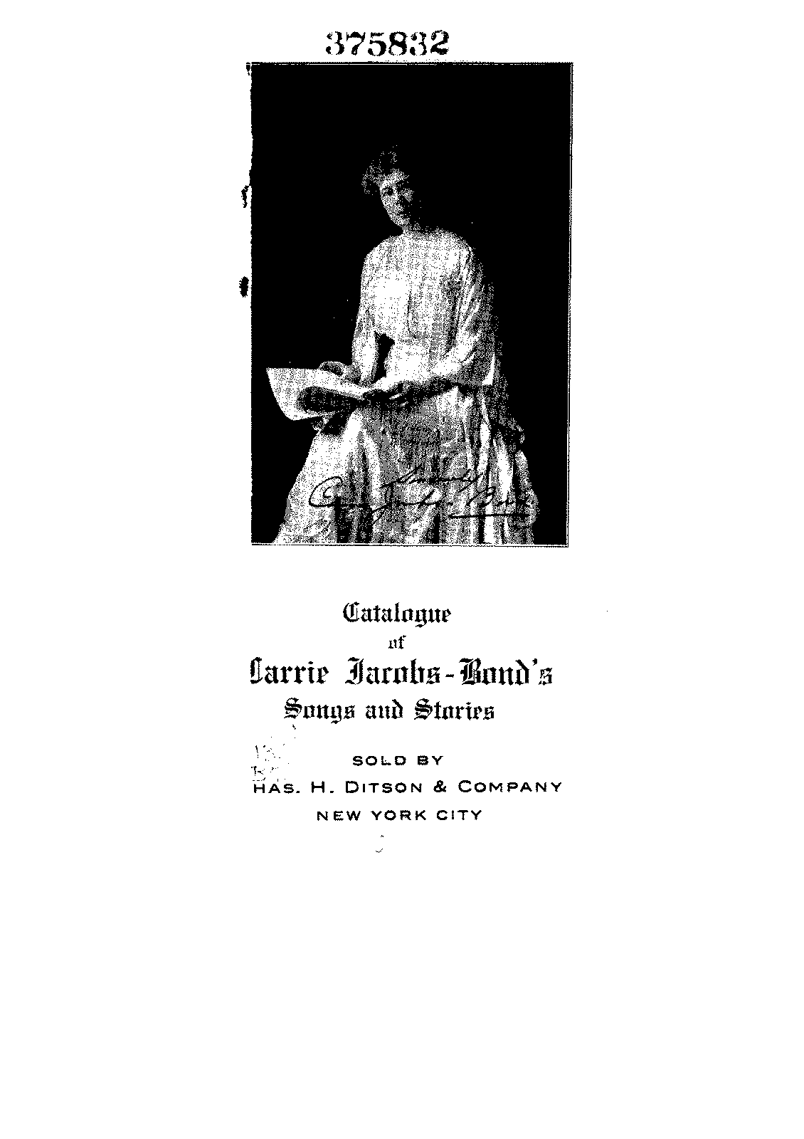 Catalog of Songs and Stories (Jacobs-Bond, Carrie) - IMSLP