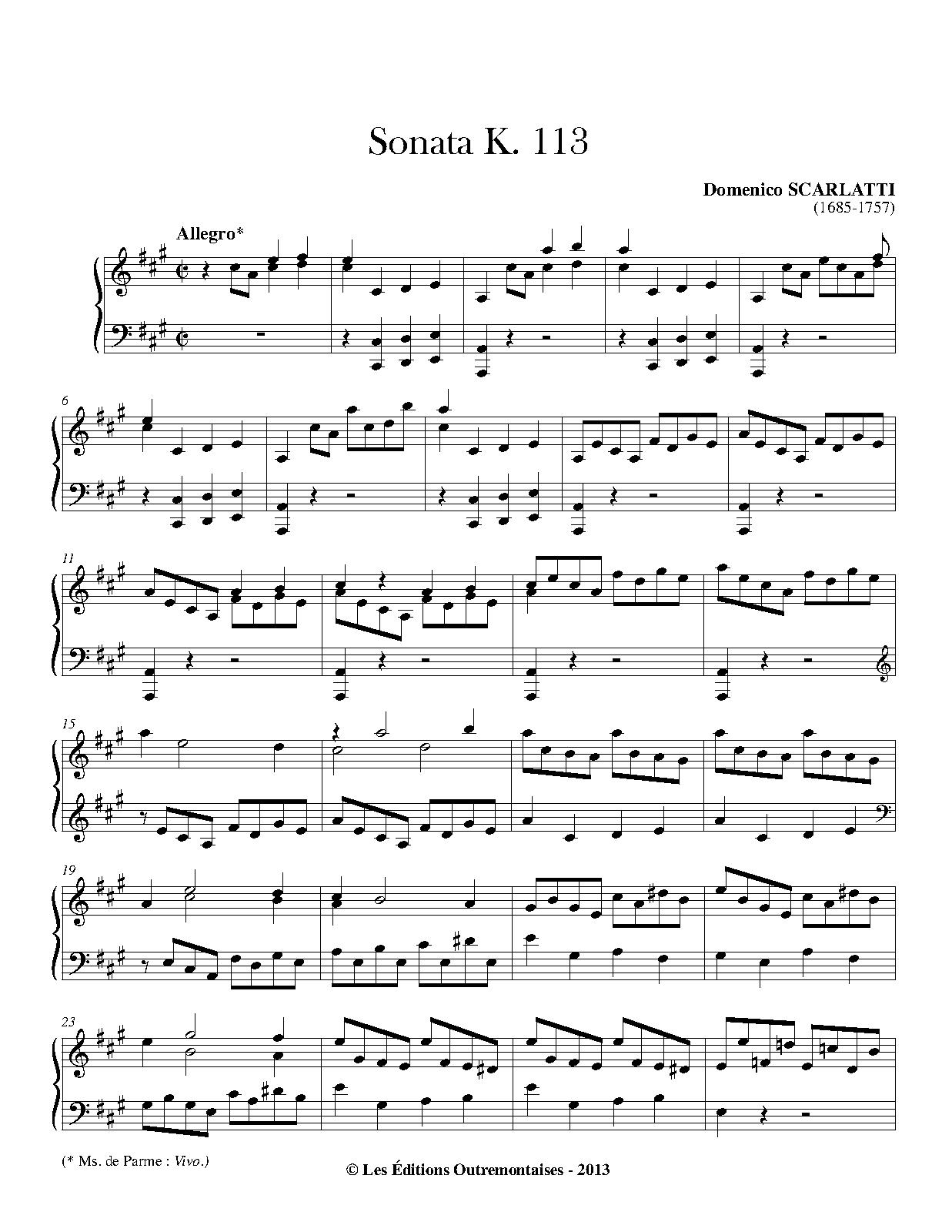 Scarlatti K 113