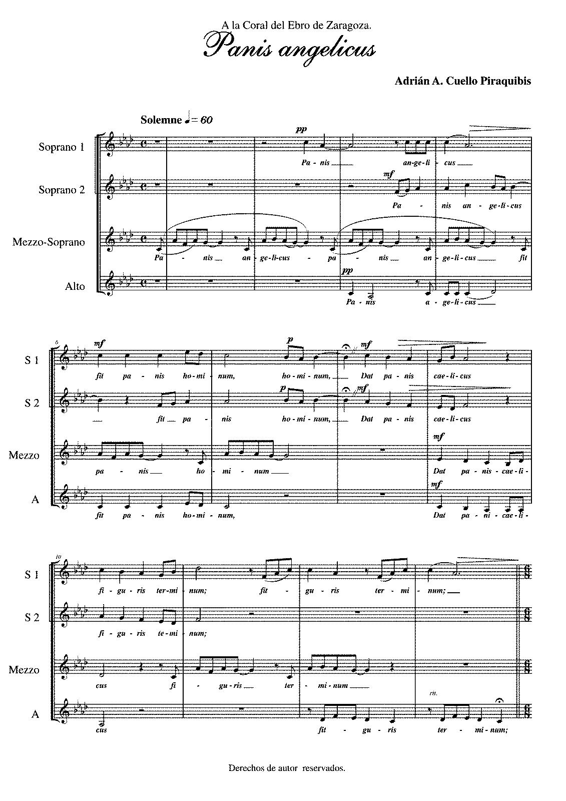 Panis angelicus sheet music pdf