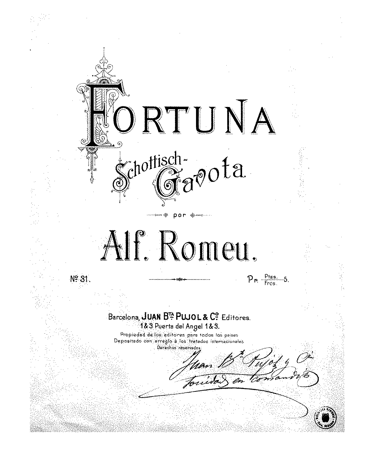 Fortuna (Romeu, Alfredo) - IMSLP/Petrucci Music Library: Free Public