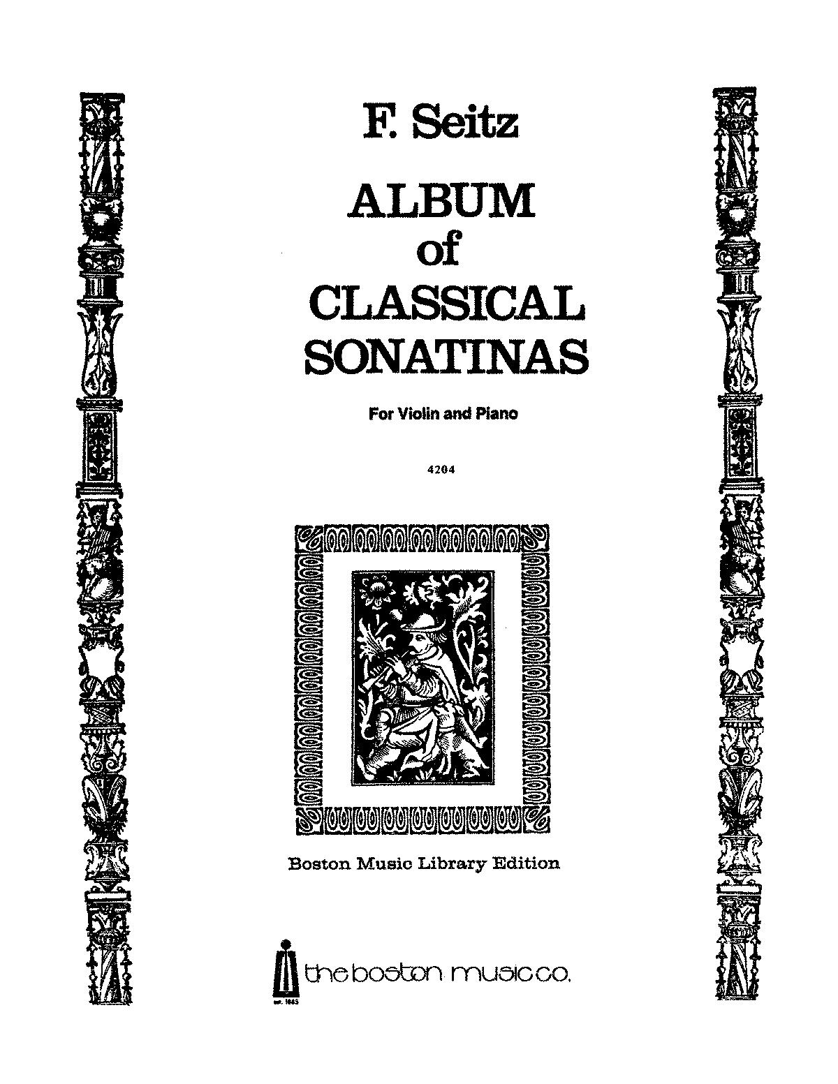 Album of Classical Sonatinas (Seitz, Friedrich) - IMSLP