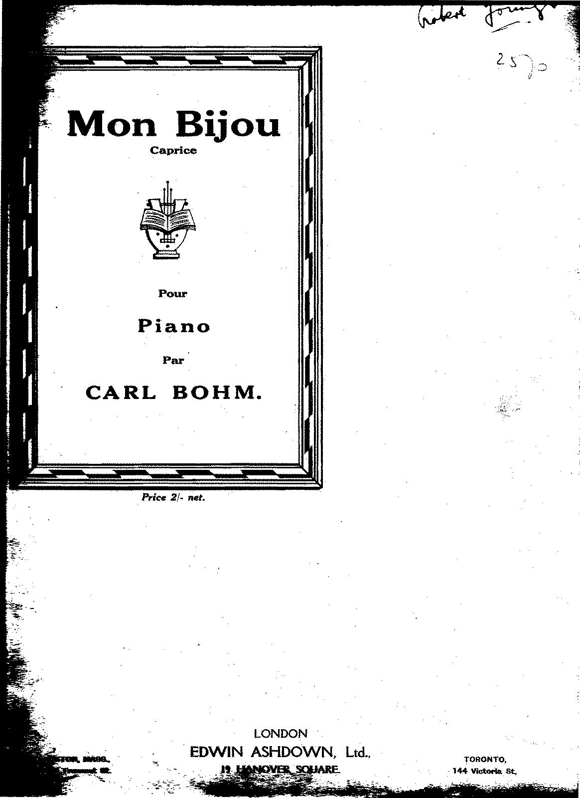Mon Bijou (Bohm, Carl) - IMSLP/Petrucci Music Library: Free Public