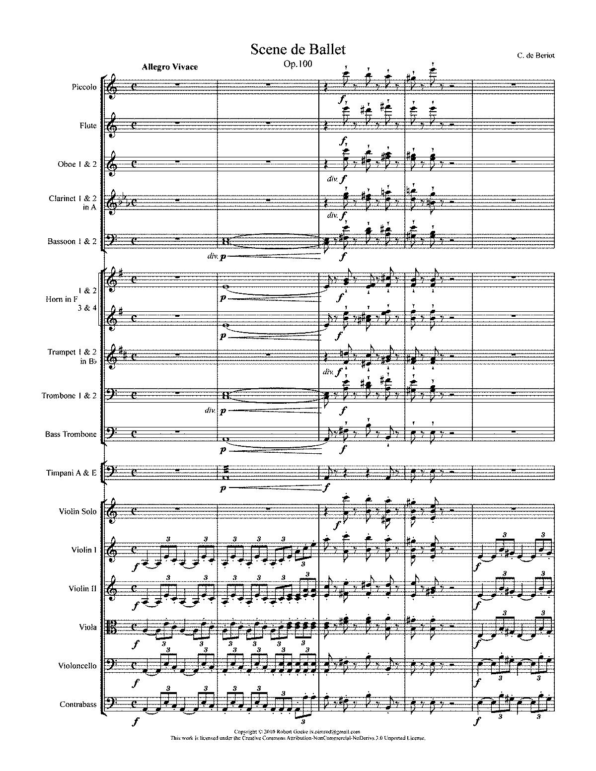Bériot, op. 100