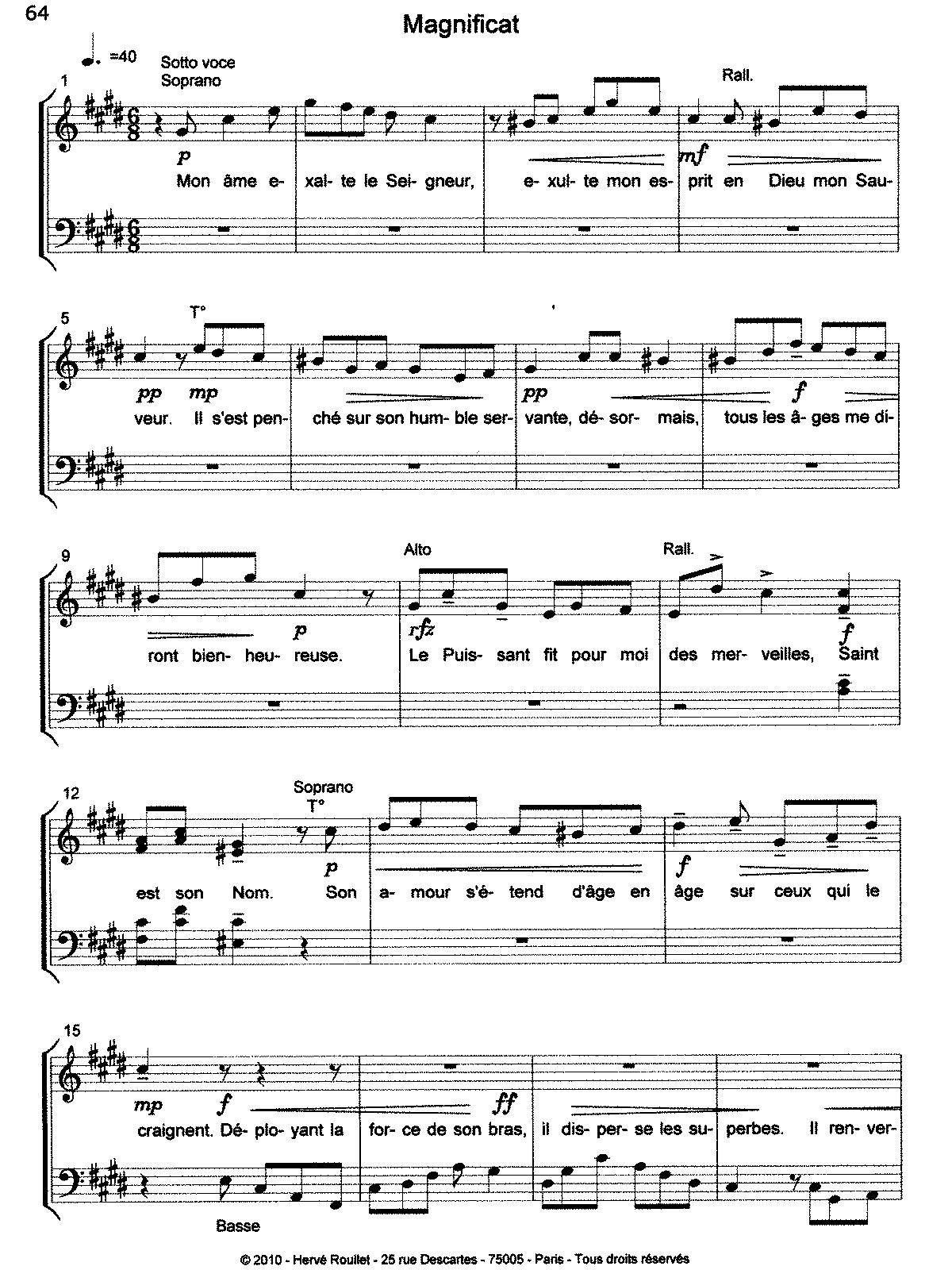 Magnificat, Op 59 (Roullet, Hervé) - IMSLP/Petrucci Music