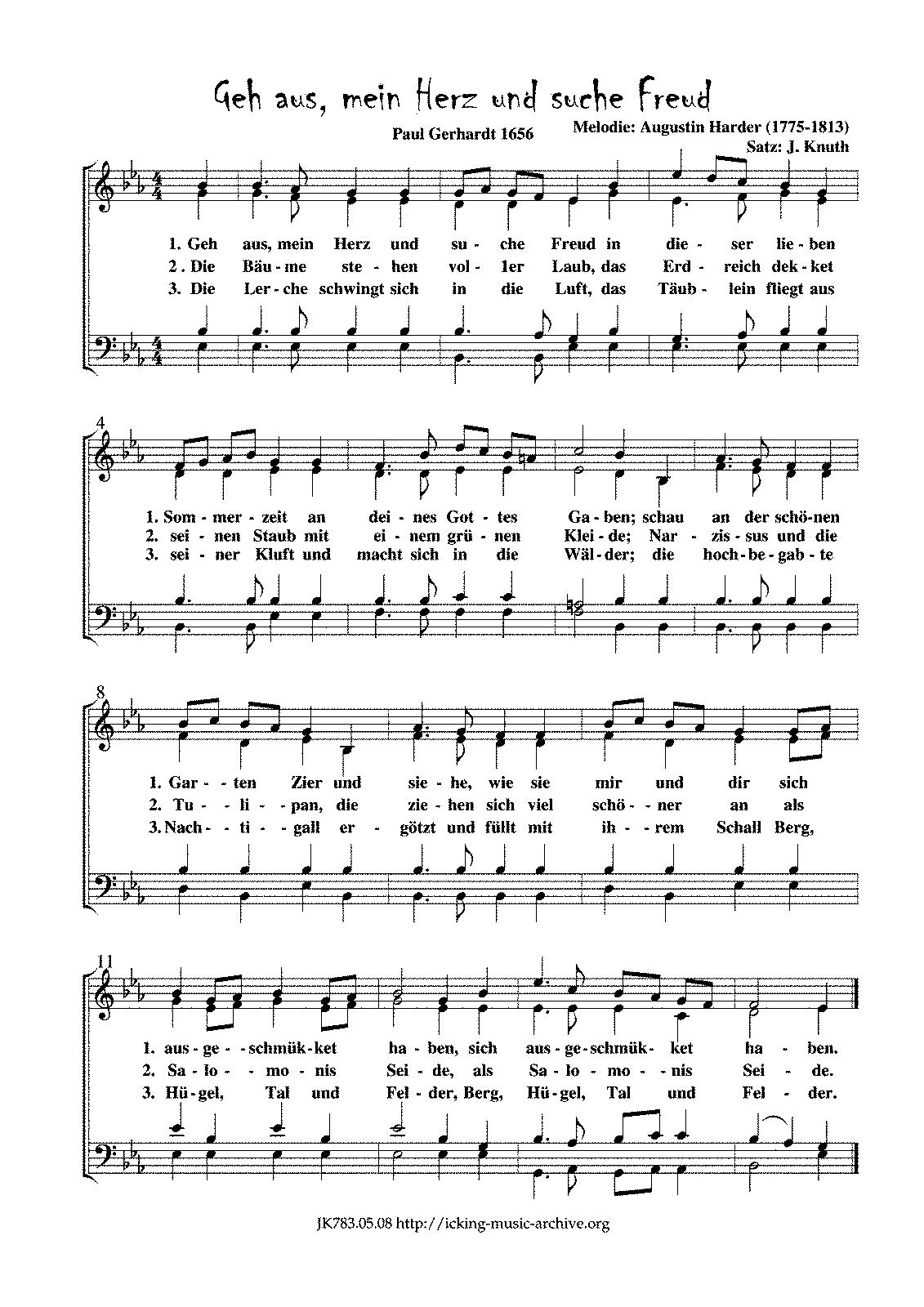Geh Aus Mein Herz Evangelisches Gesangbuch