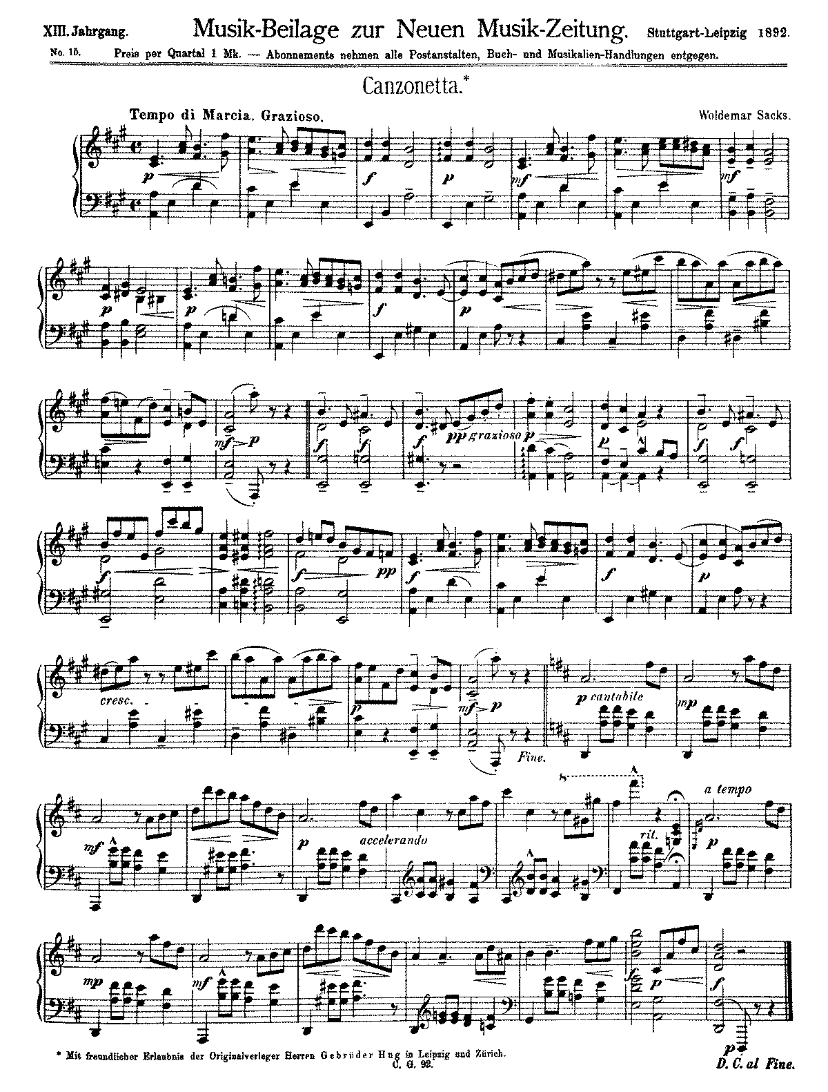 2 Albumblätter (Sacks, Woldemar) - IMSLP/Petrucci Music Library