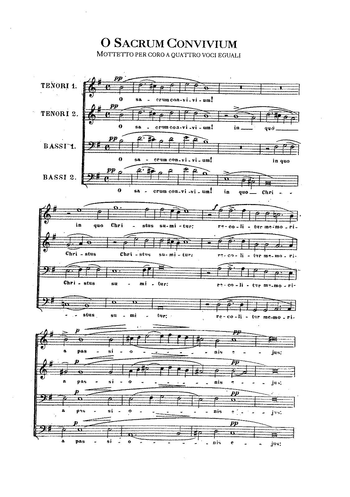 O sacrum convivium (Perosi, Lorenzo)