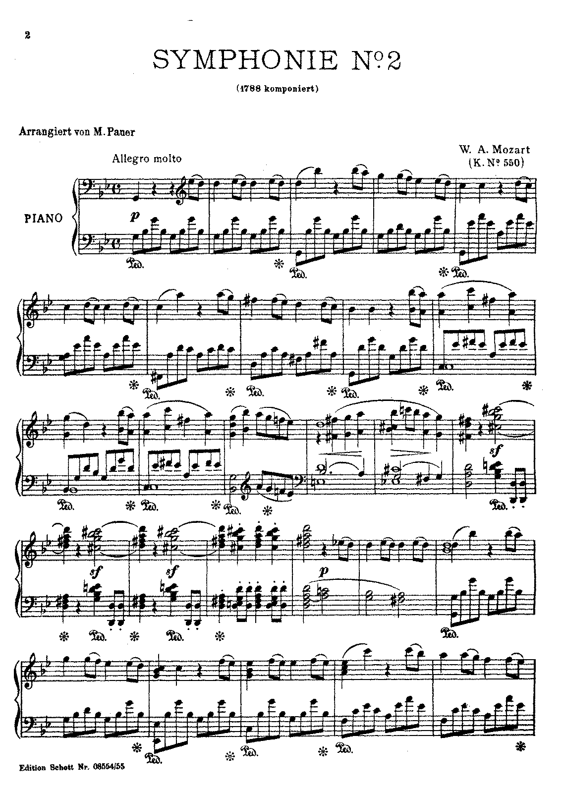 Wolfgang Amadeus Mozart: Symphony No. 40 in G Minor, K. 550