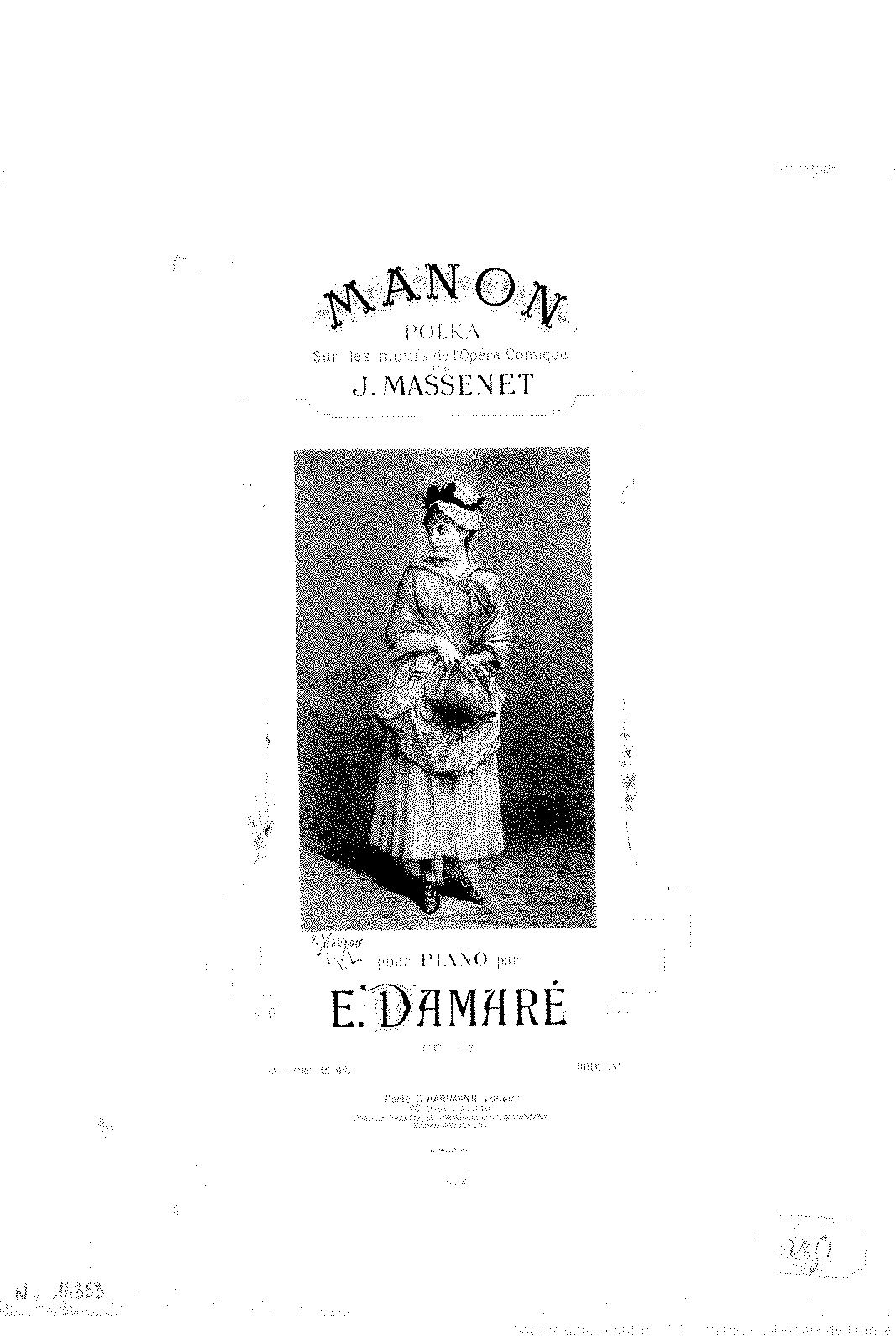 Polka sur 'Manon', Op 115 (Damaré, Eugène) - IMSLP/Petrucci Music