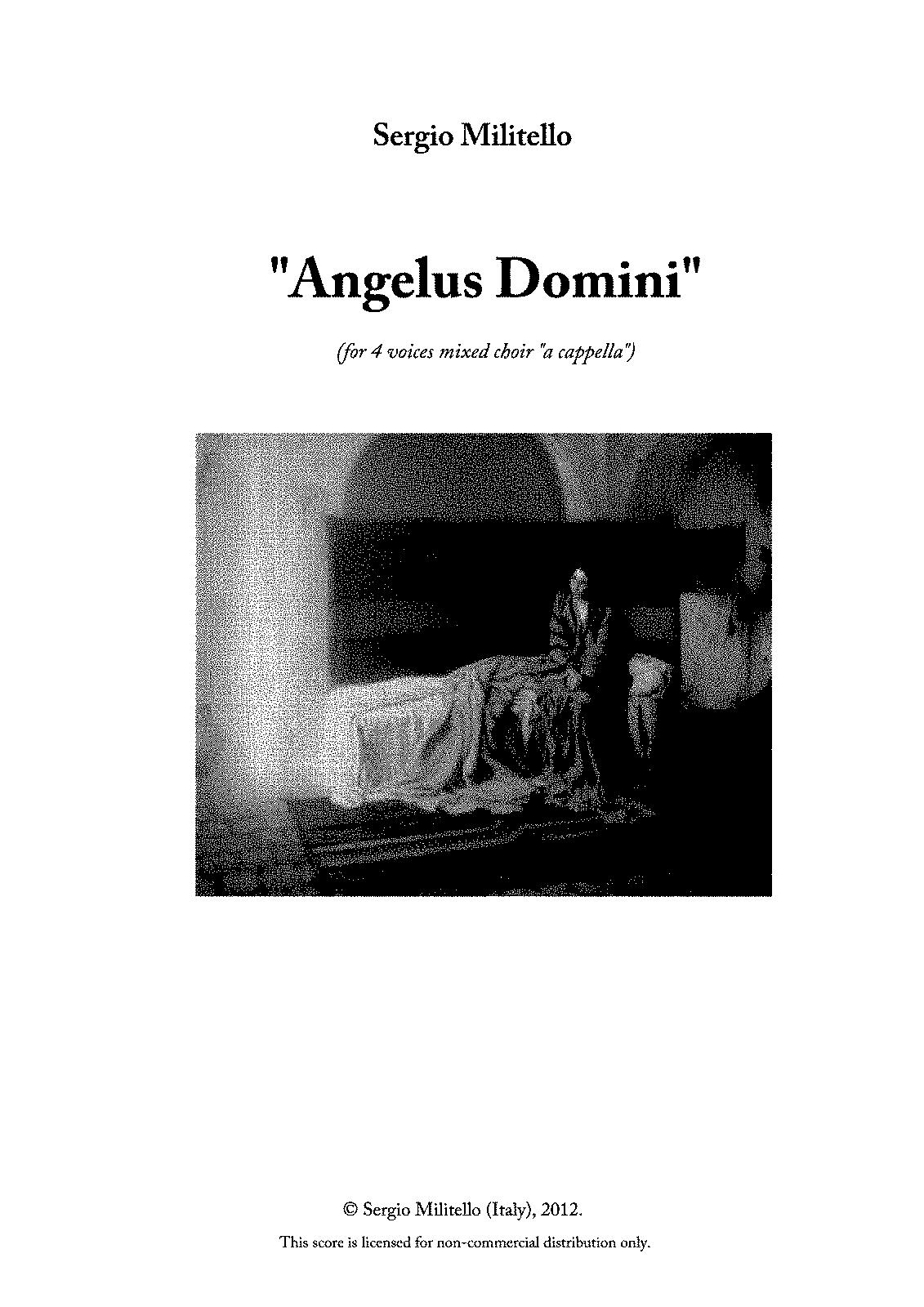 Angelus Domini (Militello, Sergio) - IMSLP/Petrucci Music