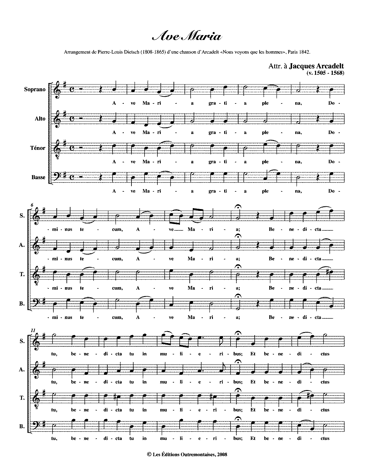 Ave Maria d'Arcadelt