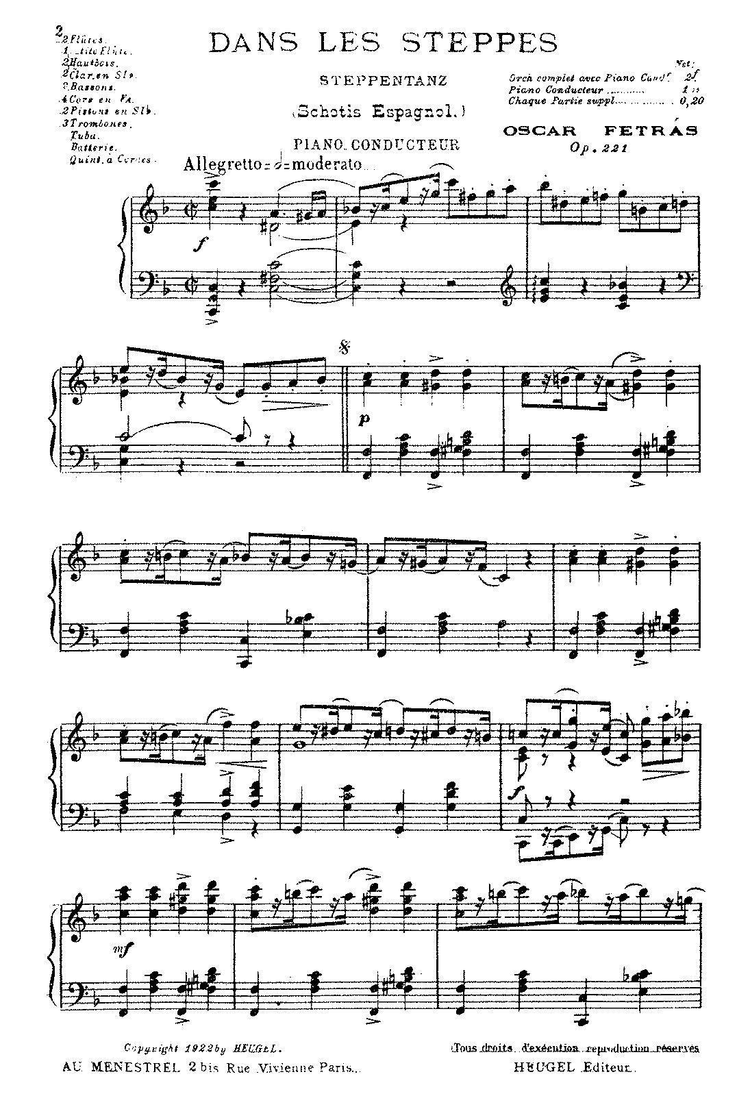 Dans les steppes, Op 221 (Fetrás, Oscar) - IMSLP/Petrucci Music