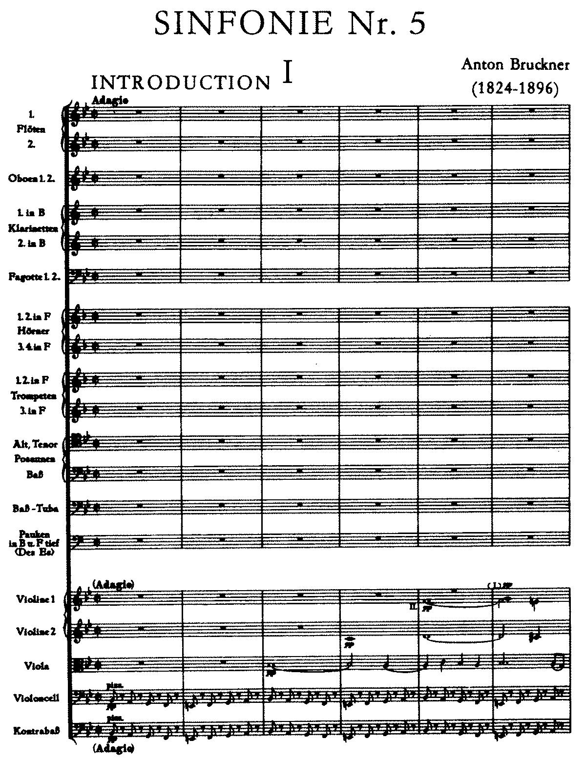 Symphony No.5 in B-flat major, WAB 105 (Bruckner, Anton) - IMSLP ...