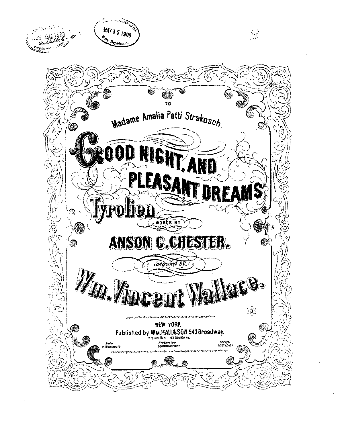 Good Night and Pleasant Dreams (Wallace, William Vincent) - IMSLP: Free Sheet Music PDF Download