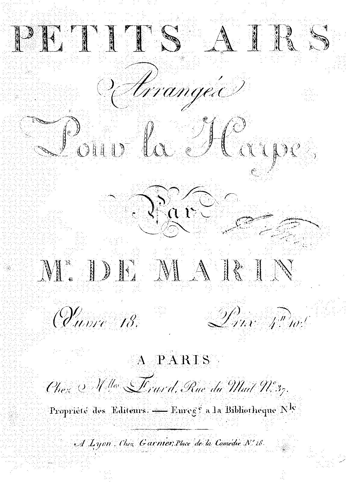 Petits Airs, Op 18 (Marin, Marie-Martin Marcel) - IMSLP