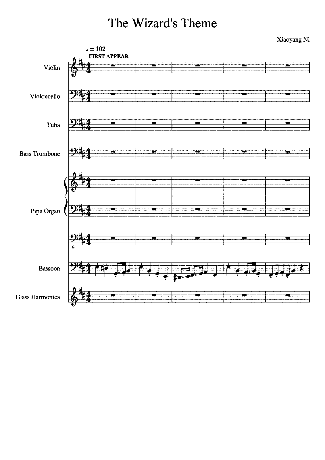 The Wizard's Theme (Ni, Xiaoyang) - IMSLP/Petrucci Music Library