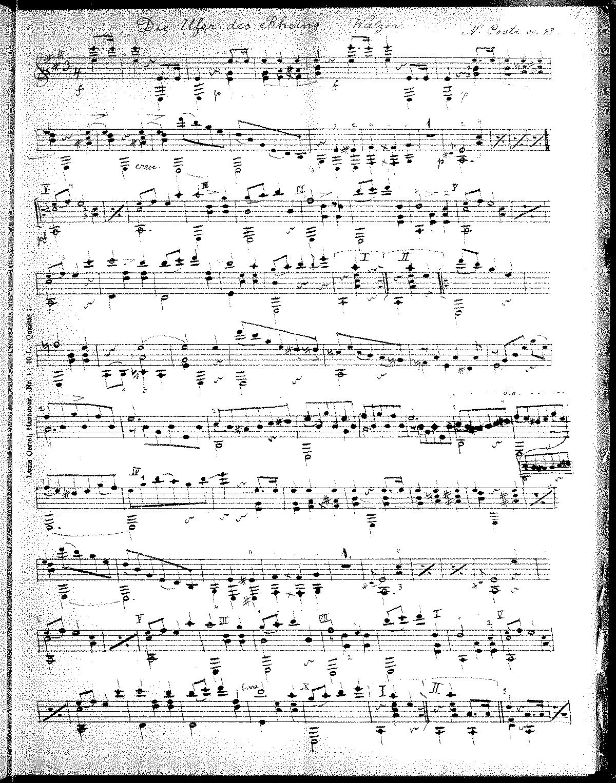 Die Ufer des Rheins, Op 18 (Coste, Napoléon) - IMSLP/Petrucci Music