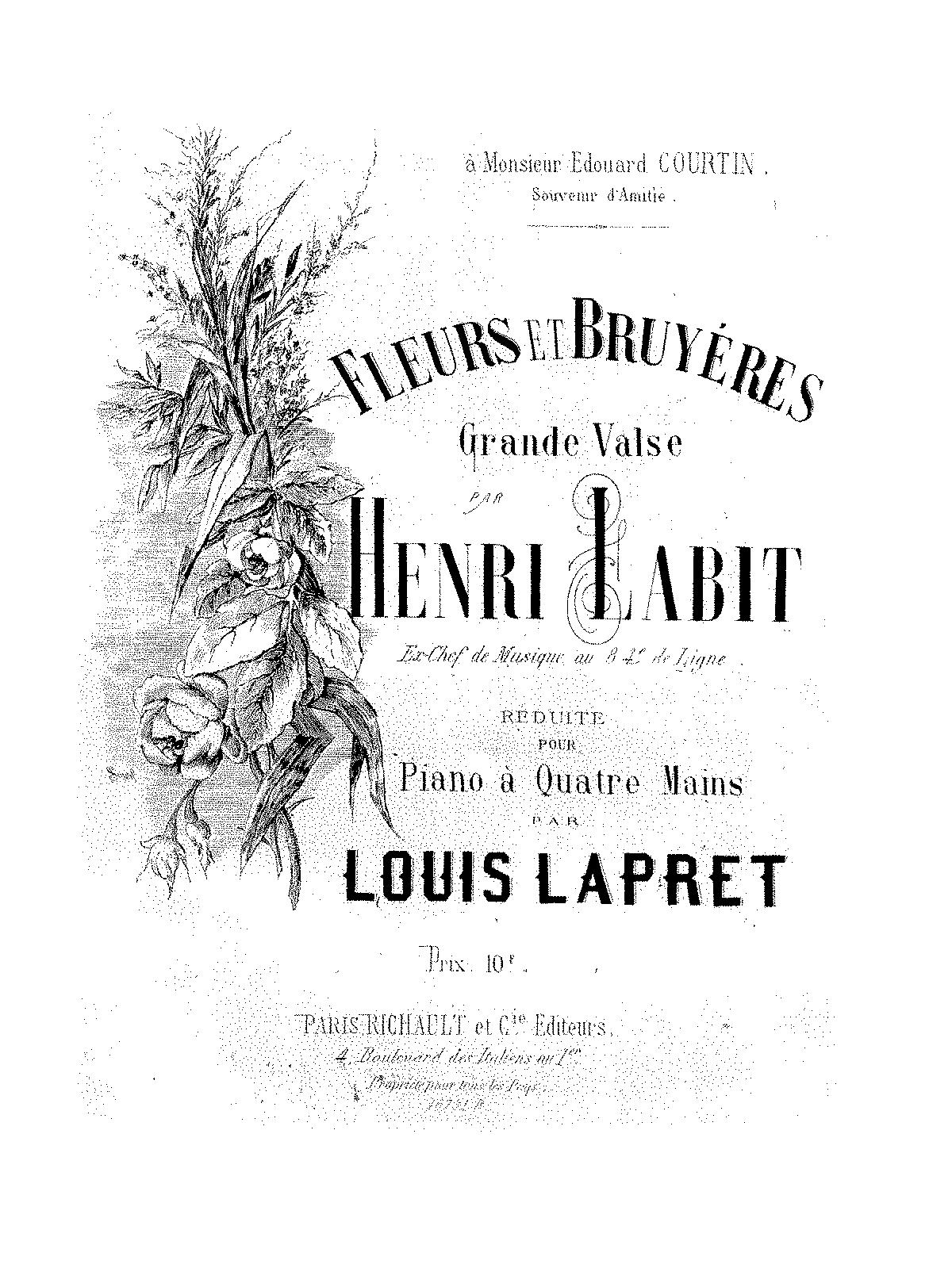Fleurs et bruyères (Labit, Henri) - IMSLP/Petrucci Music