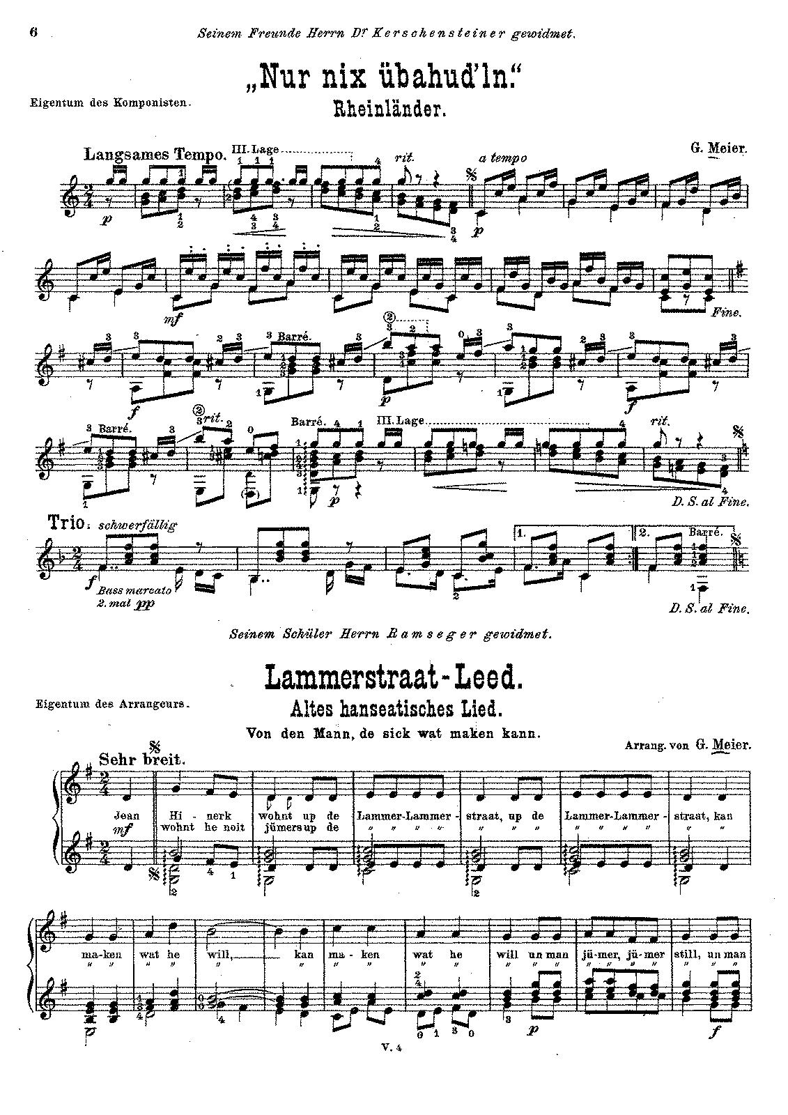 Nir nix ubahud'ln and Lammerstraat-Leed (Meier, Georg
