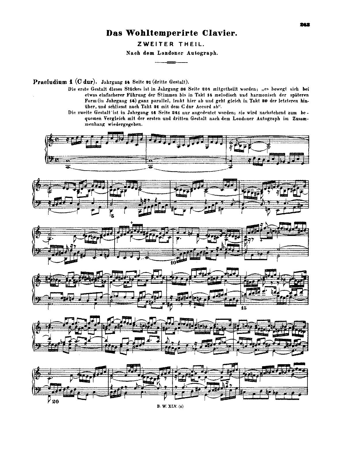 das wohltemperierte klavier ii bwv bach johann  das wohltemperierte klavier ii bwv 870 893 bach johann sebastian petrucci music library public sheet music