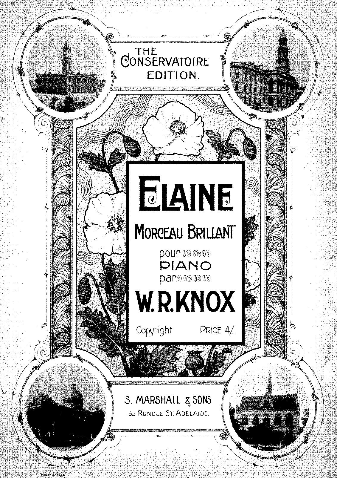 Elaine (Knox, William Robert) - IMSLP/Petrucci Music Library: Free