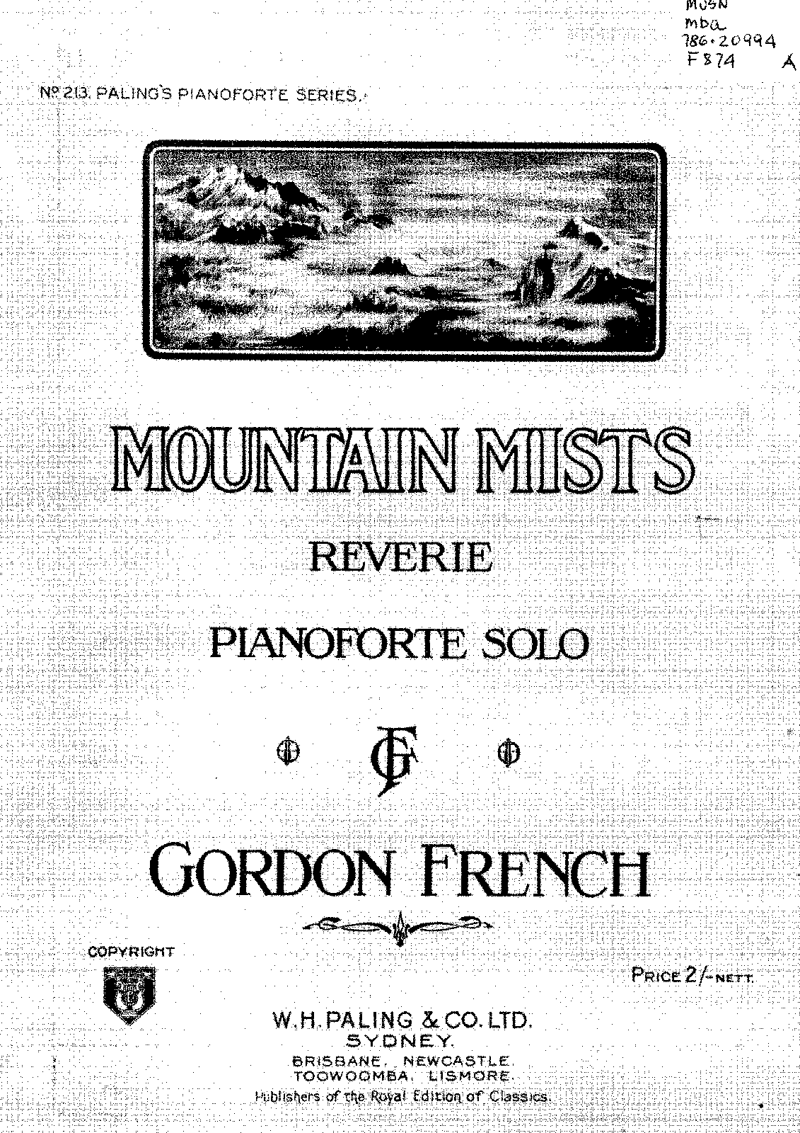 Mountain mists (French, Gordon) - IMSLP/Petrucci Music Library: Free