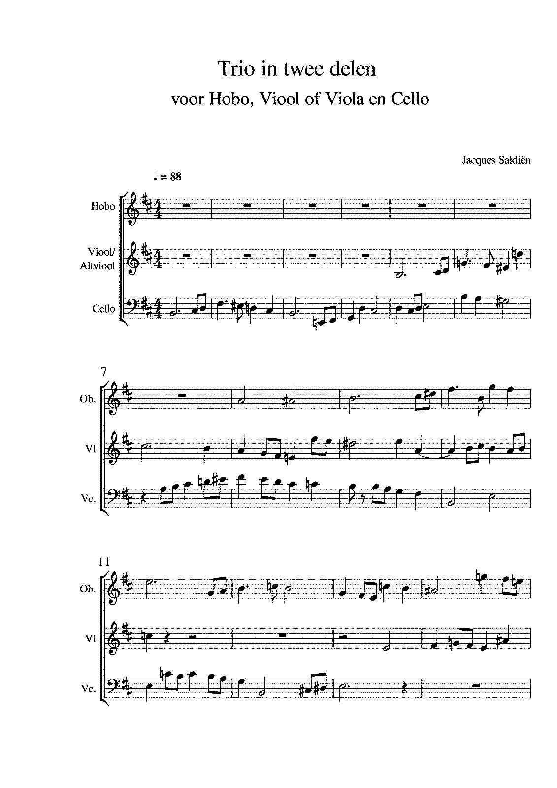 Trio in twee delen (Saldiën, Jacques) - IMSLP/Petrucci Music
