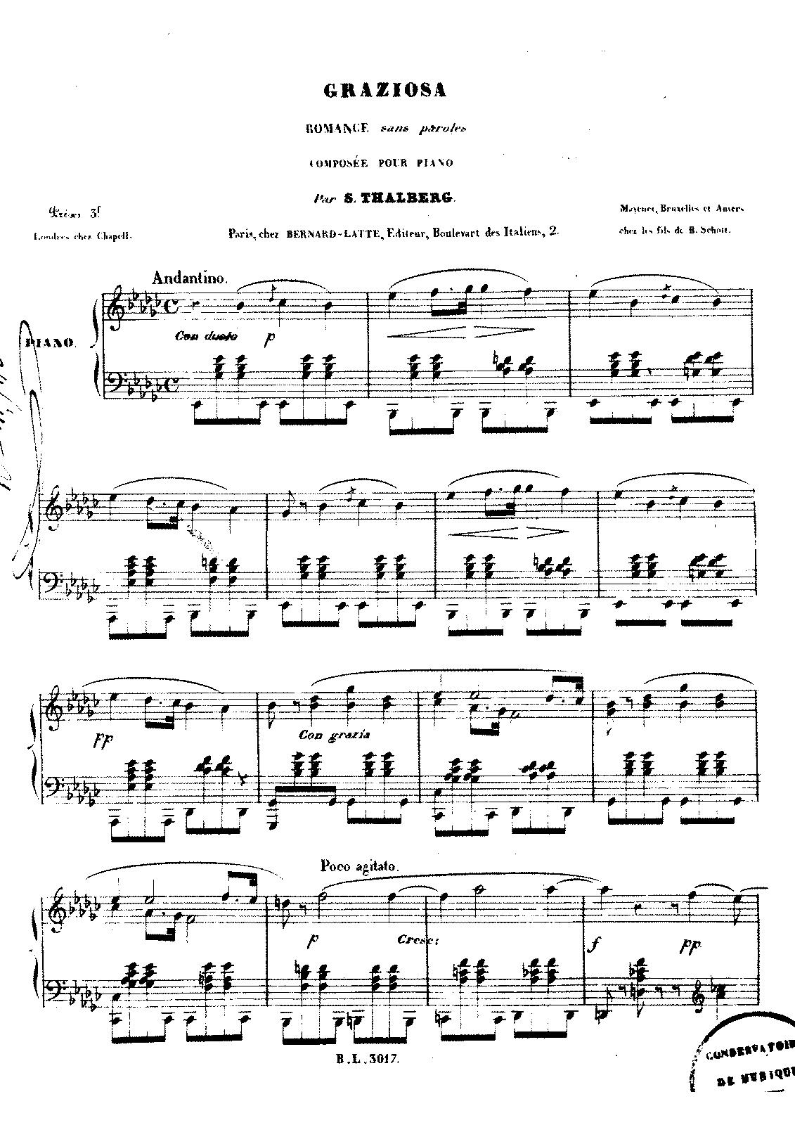 Graziosa (Thalberg, Sigismond) - IMSLP/Petrucci Music
