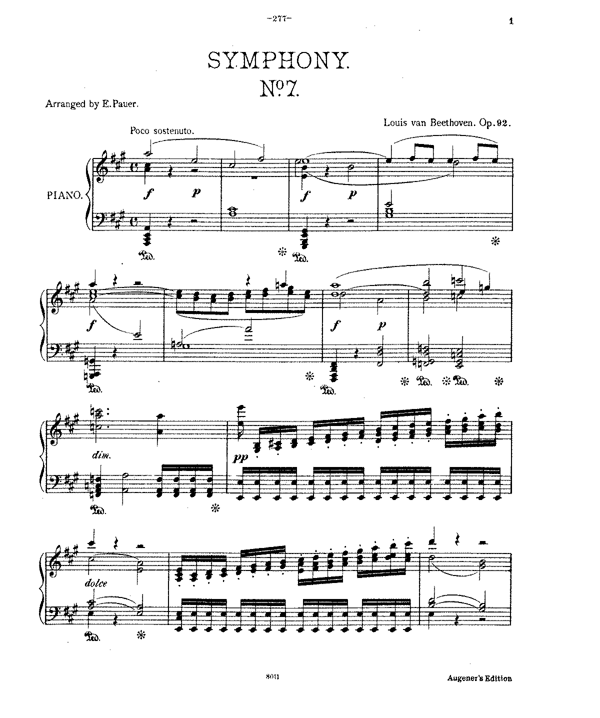 Symphony No.7, Op.92 (Beethoven, Ludwig Van)