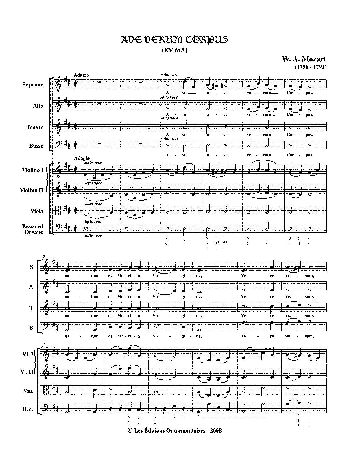 Ave Verum Corpus Text