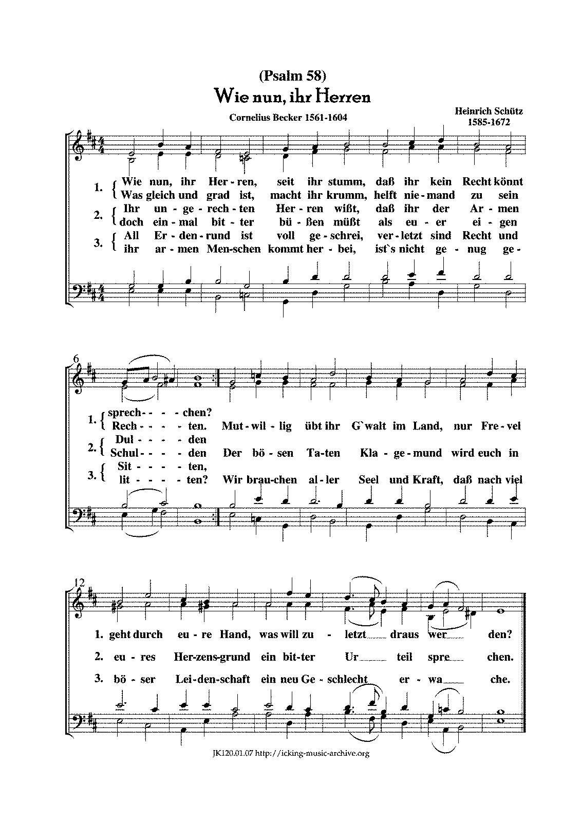 schütz psalm 100
