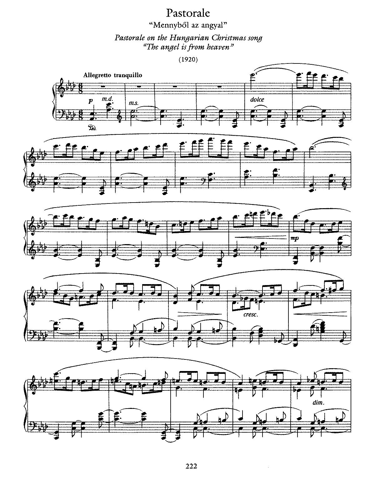 Pastorale on a Hungarian Christmas Song (Dohnányi, Ernő) - IMSLP: Free Sheet Music PDF Download