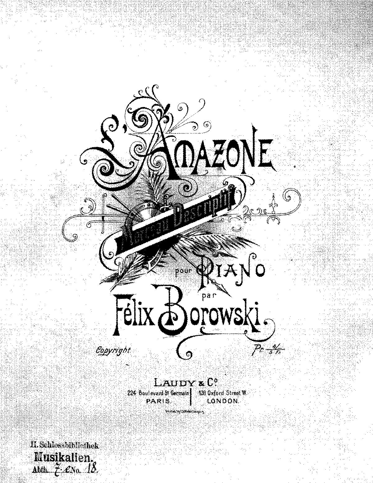 L'Amazone (Borowski, Felix) - IMSLP/Petrucci Music Library: Free
