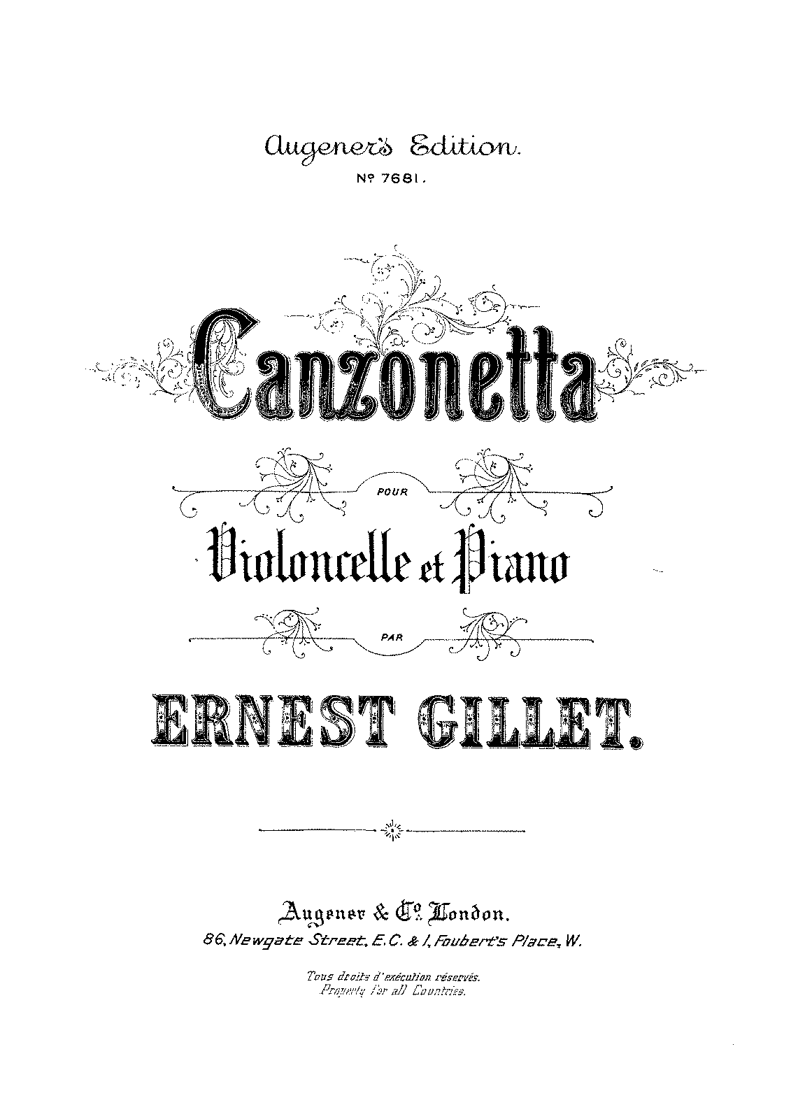 Canzonetta (Gillet, Ernest) - IMSLP/Petrucci Music Library: Free