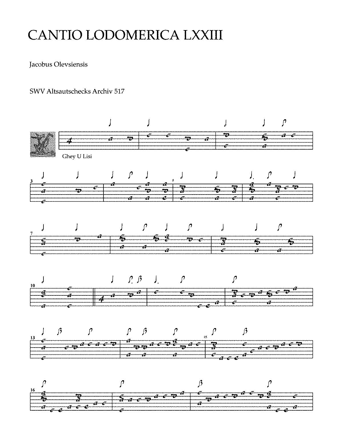 Cantio Lodomerica LXXIII (Turovsky-Savchuk, Roman) - IMSLP