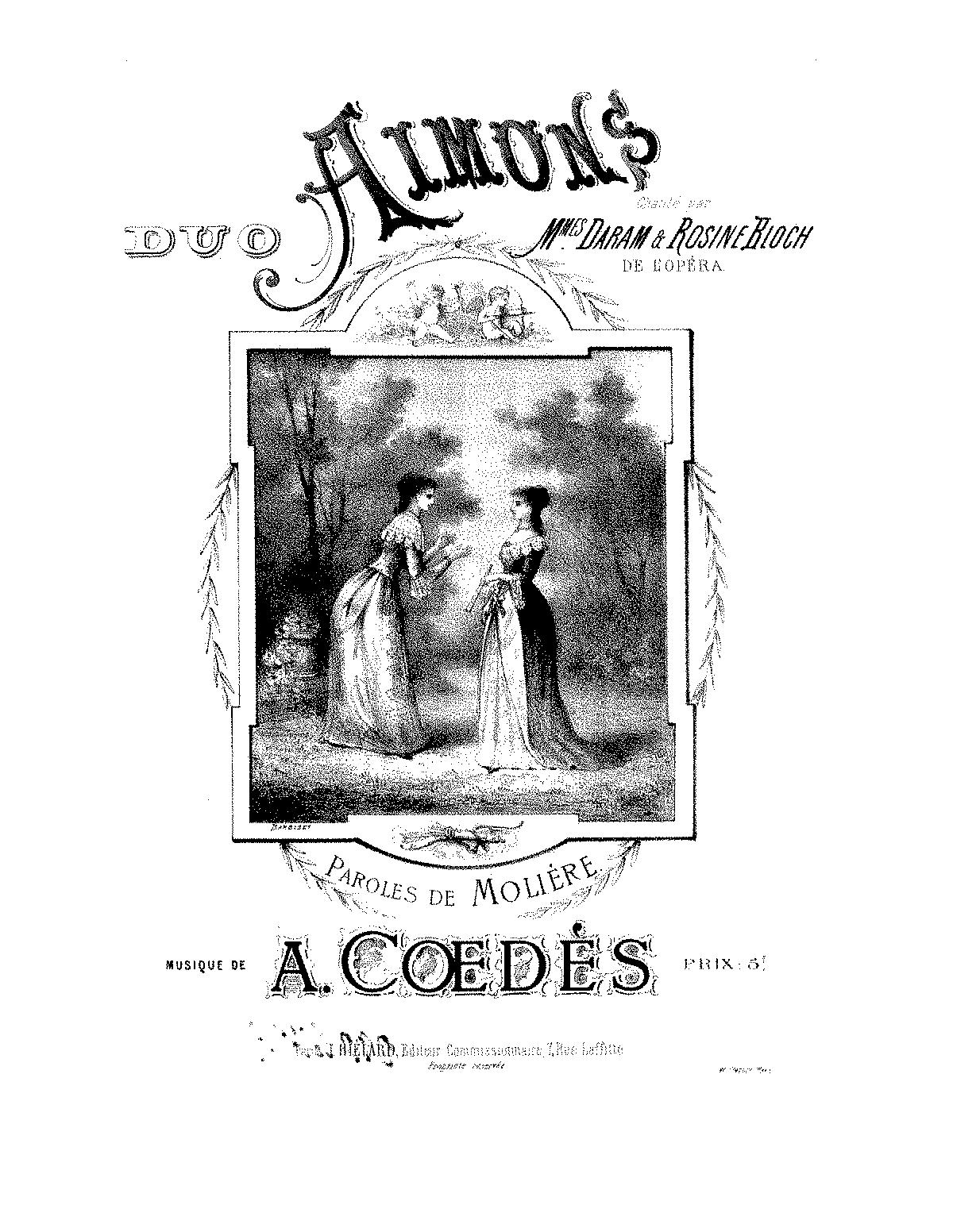 Aimons! (Cœdès, Auguste) - IMSLP/Petrucci Music Library: Free Public