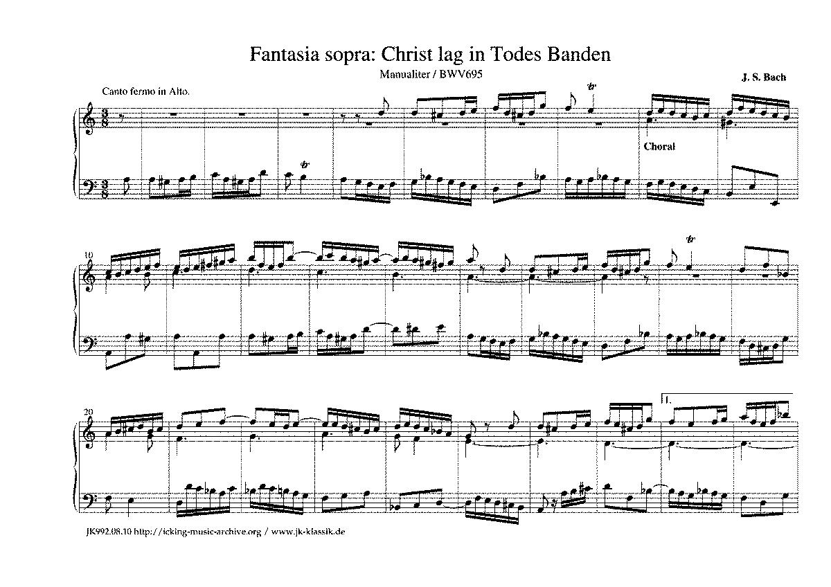 chorale preludes bwv 690 713 bach johann sebastian imslp