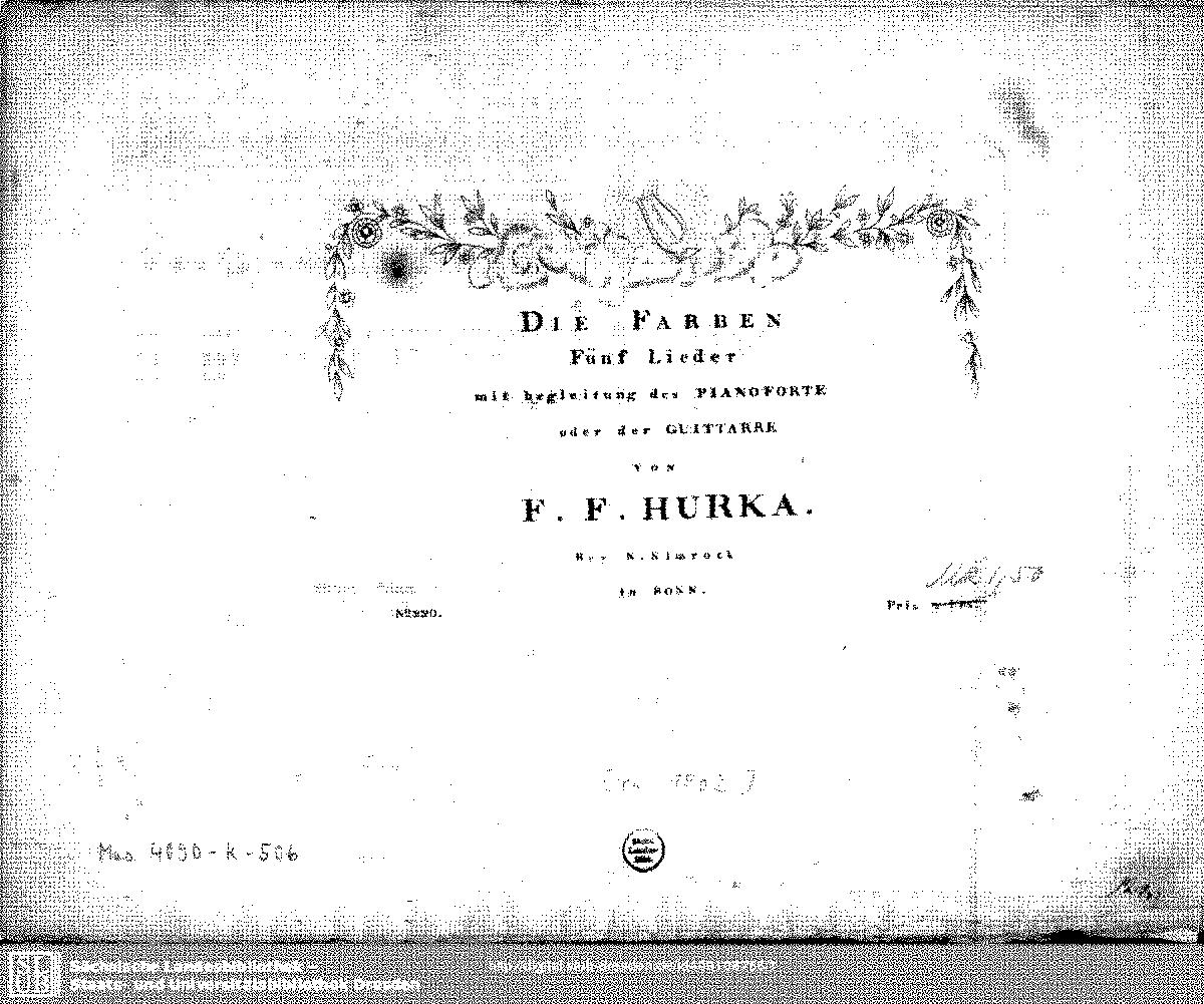 Die Farben (Hůrka, Friedrich Franz) - IMSLP/Petrucci Music Library ...