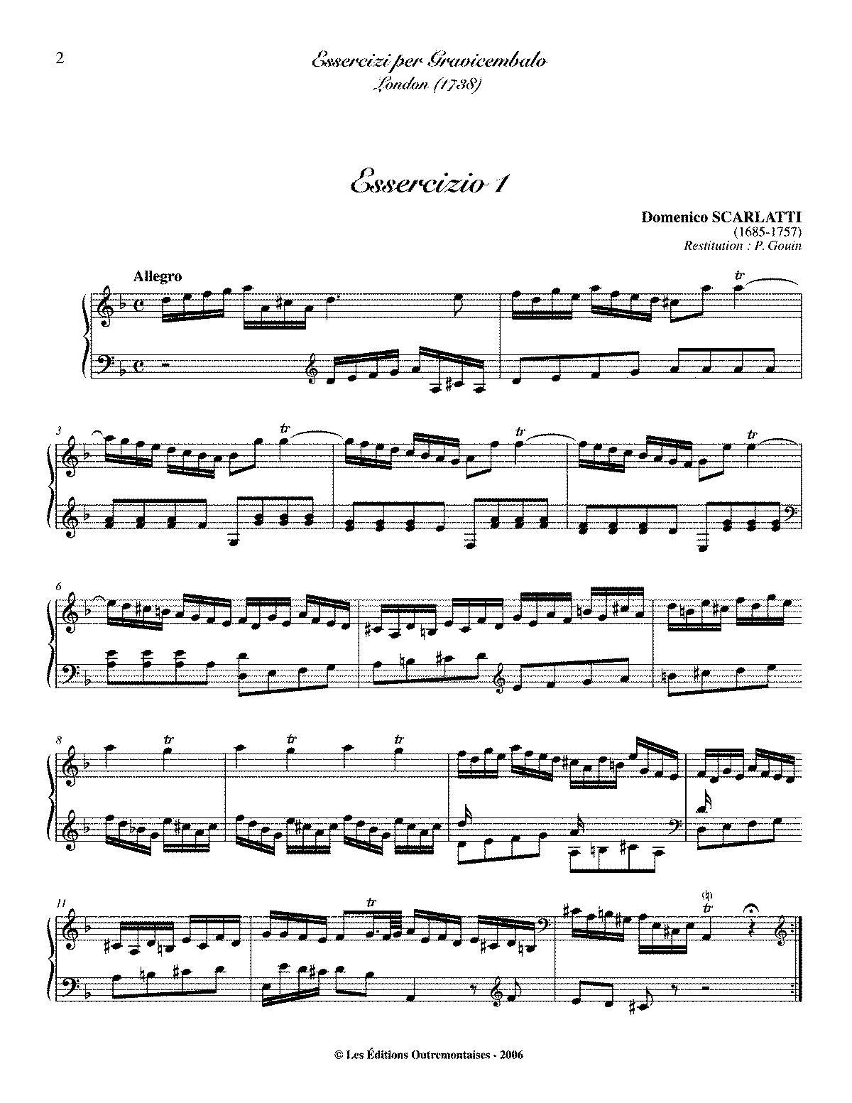 Scarlatti K 1