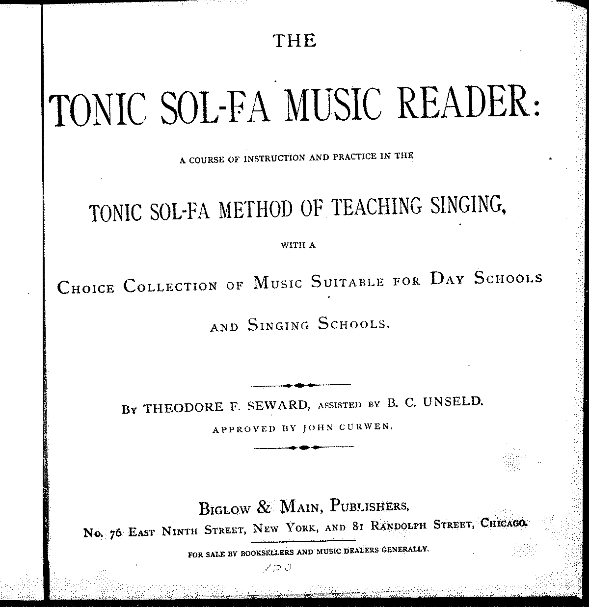 The Tonic Sol-Fa Music Reader (Various)