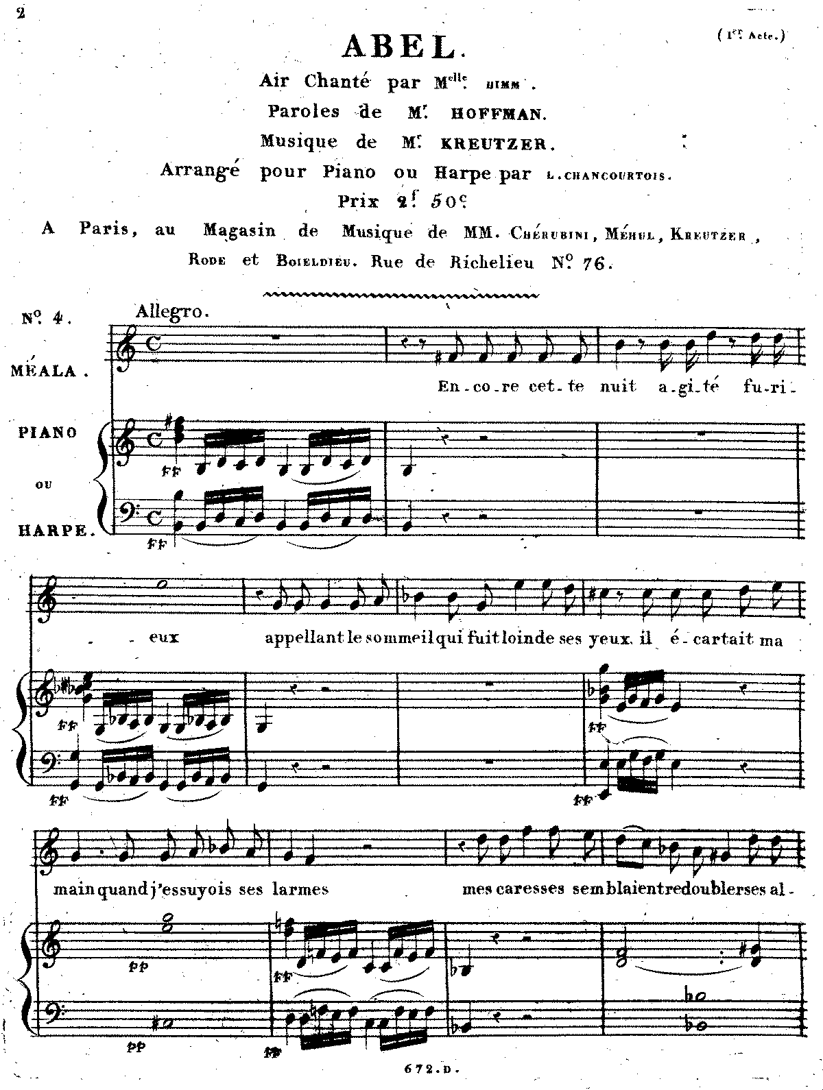 Abel (Kreutzer, Rodolphe) - IMSLP/Petrucci Music Library: Free