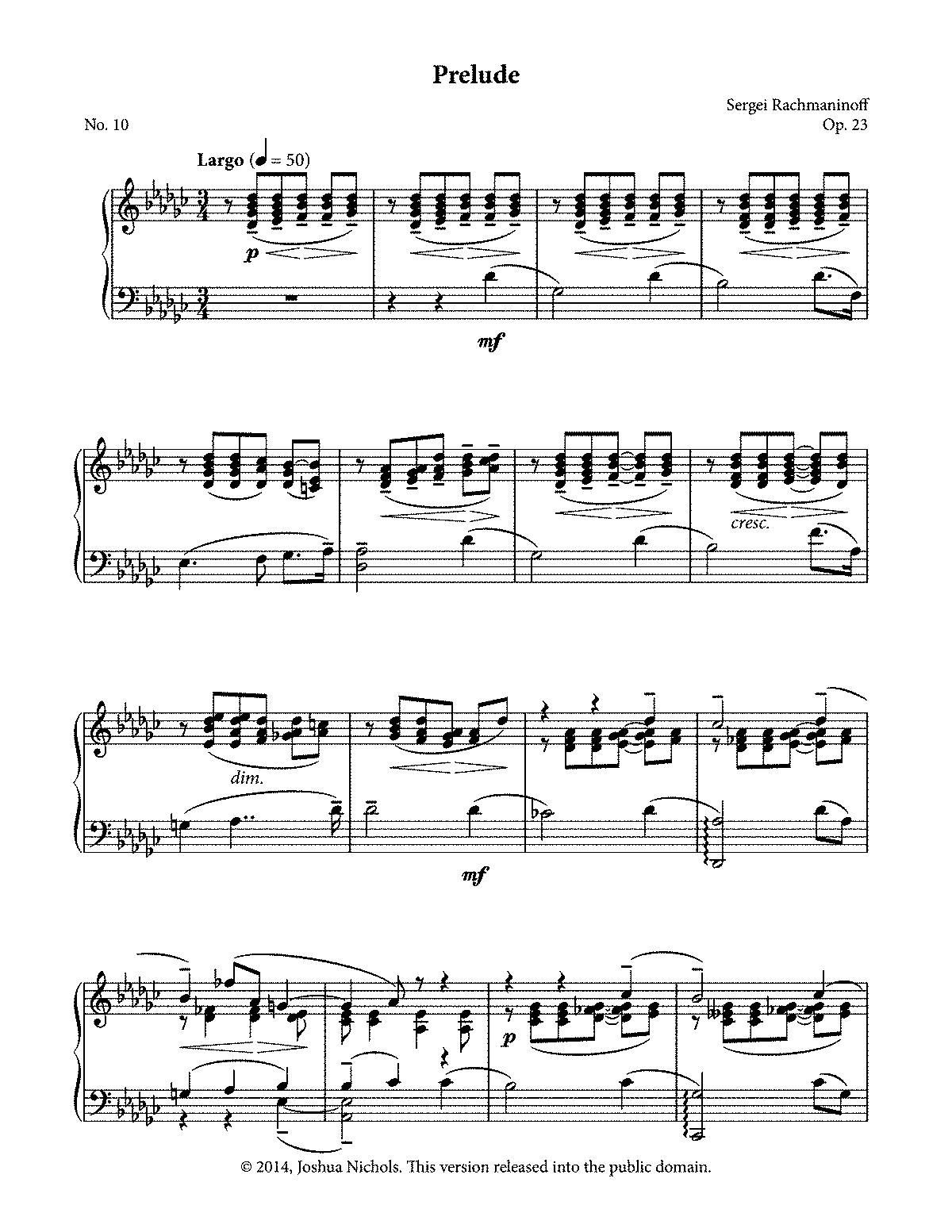 10 Preludes, Op 23 (Rachmaninoff, Sergei) - IMSLP: Free