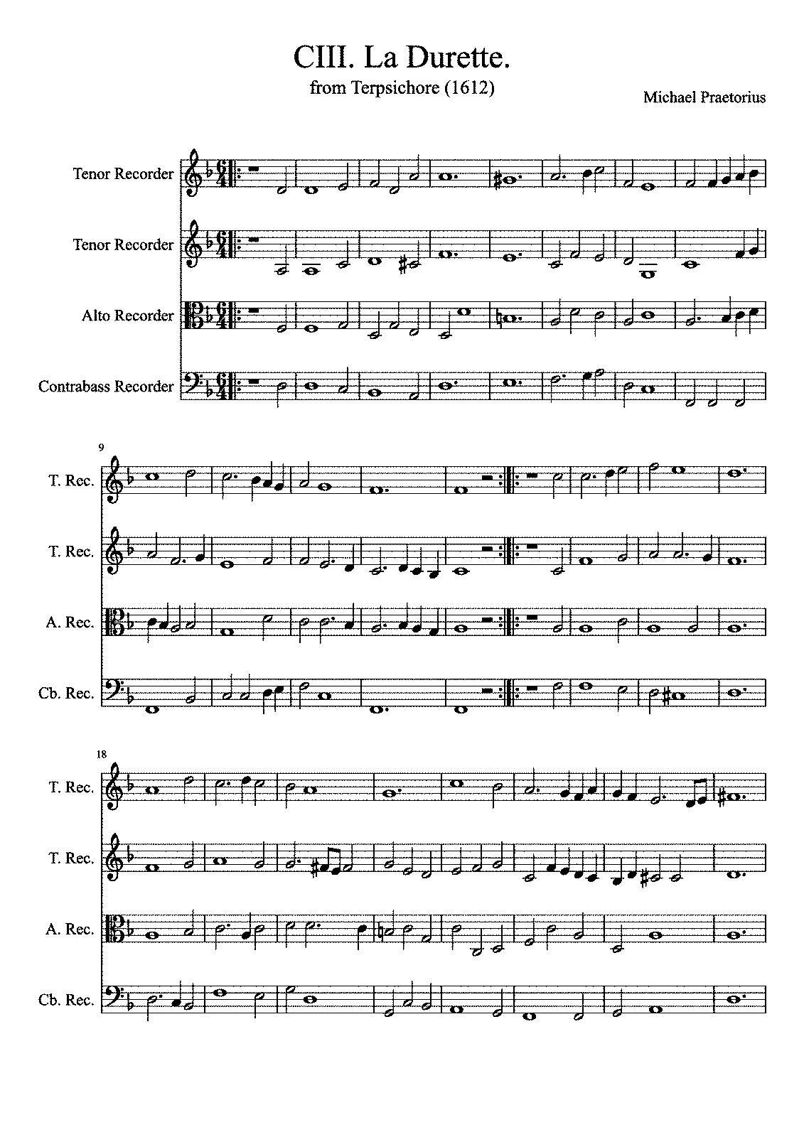 la durette, tma 103 (praetorius, michael) - imslp: free sheet music pdf  download  imslp