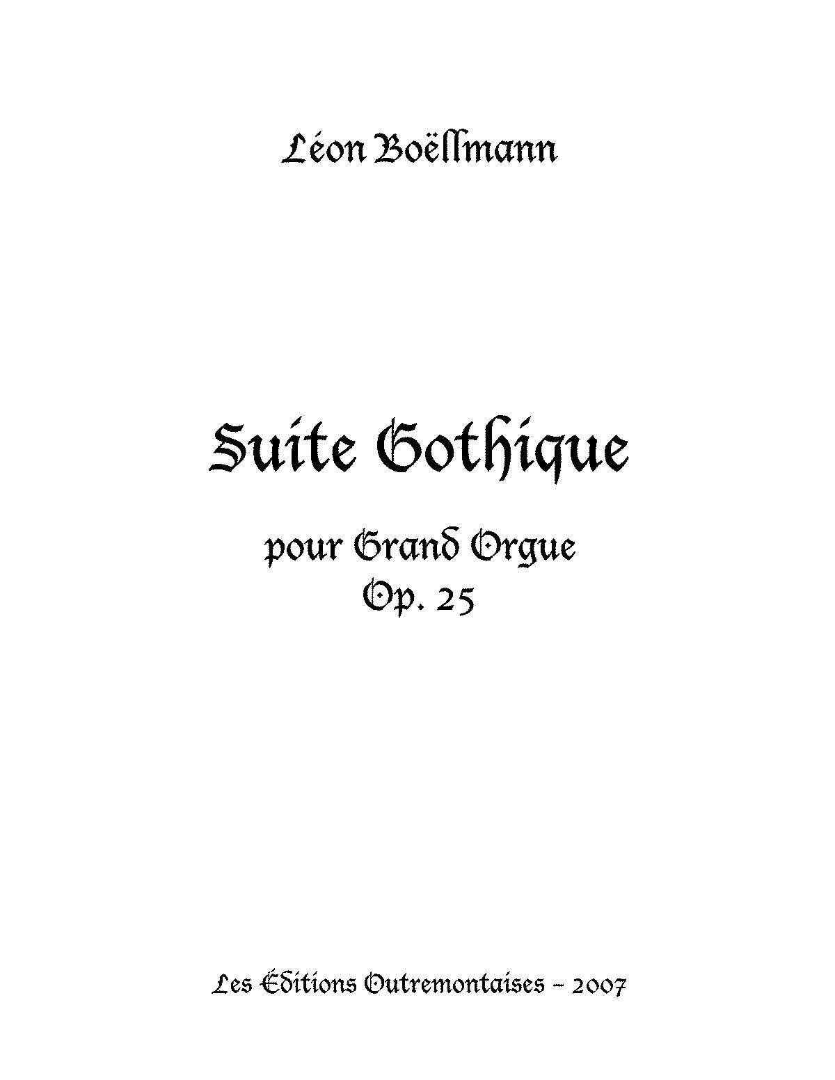 Suite Gothique Op Bollmann Lon  ImslpPetrucci Music