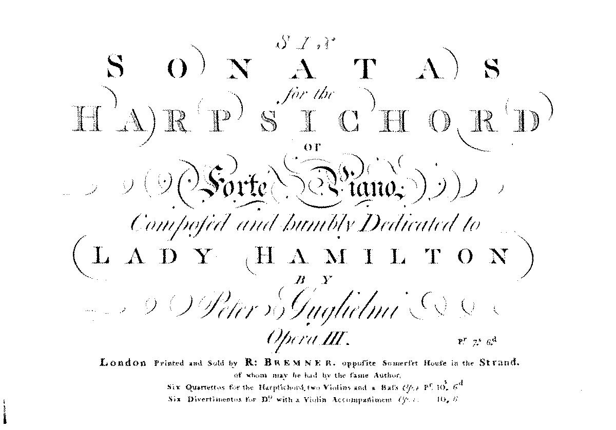 Guglielmi, op. 3