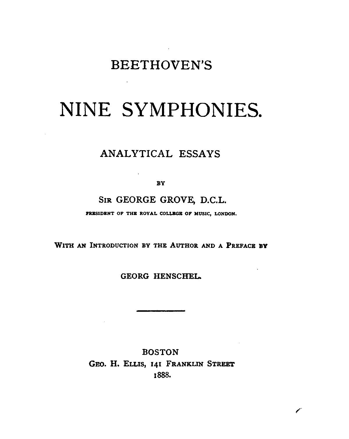 beethoven s nine symphonies analytical essays grove george javascript
