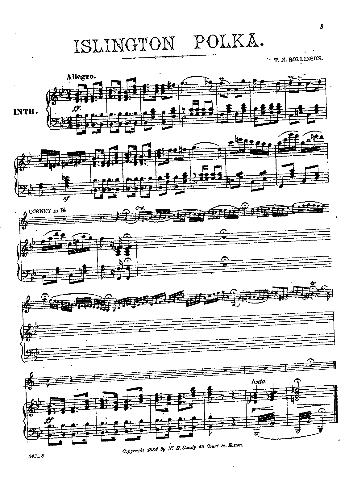 Islington Polka (Rollinson, Thomas H ) - IMSLP/Petrucci Music