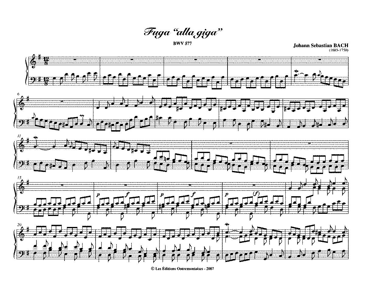 BWV 577