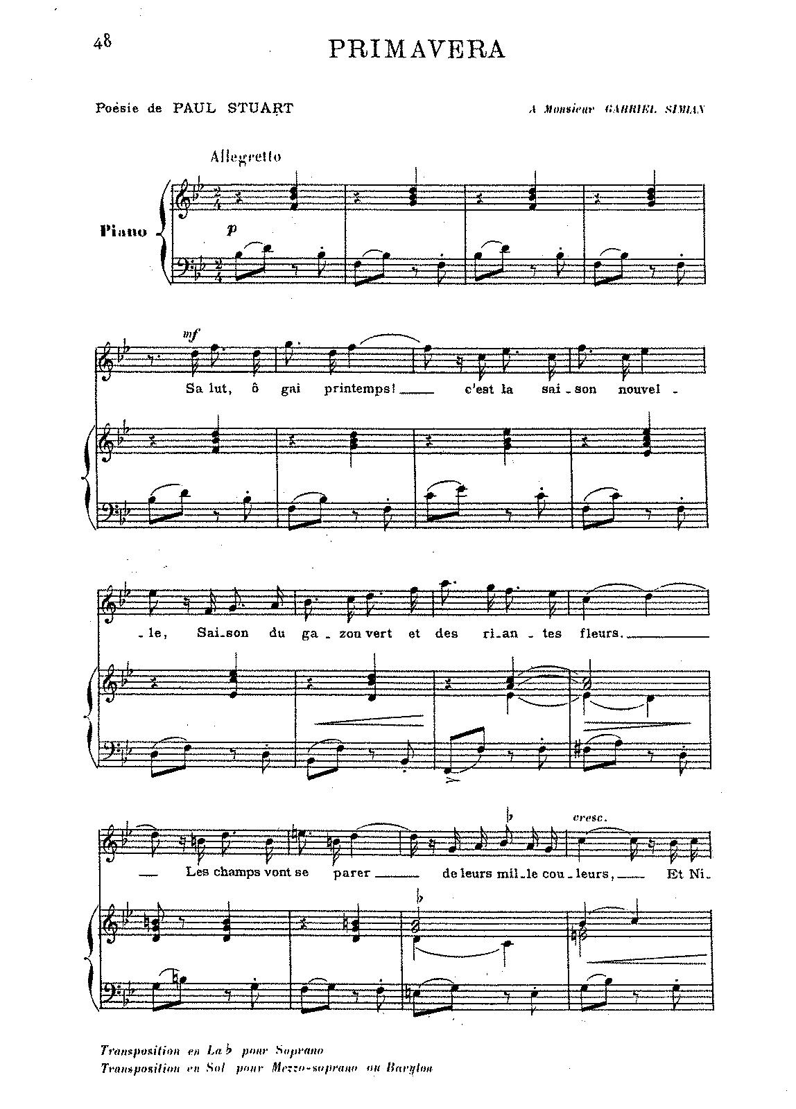 Primavera (Saint-Saëns, Camille) - IMSLP/Petrucci Music Library