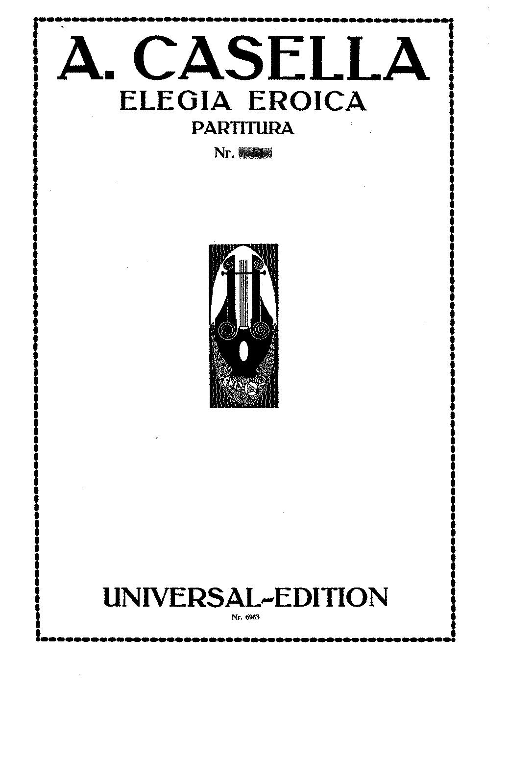 Elegia eroica, Op.29 (Casella, Alfredo) - IMSLP/Petrucci ...